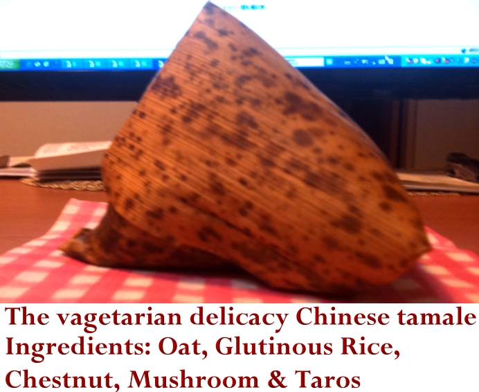 The vagetarian delicacy Chinese Tamale
