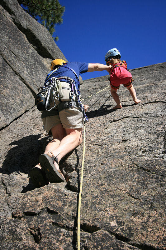 Dad Assisted Rappel