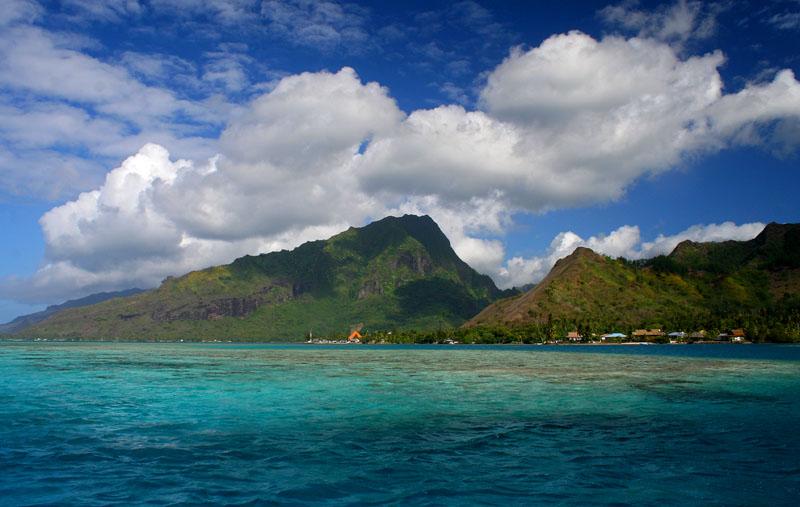 Moorea from the lagoon