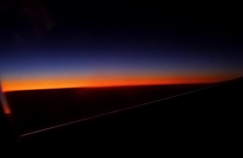 38,000 ft approaching sunrise