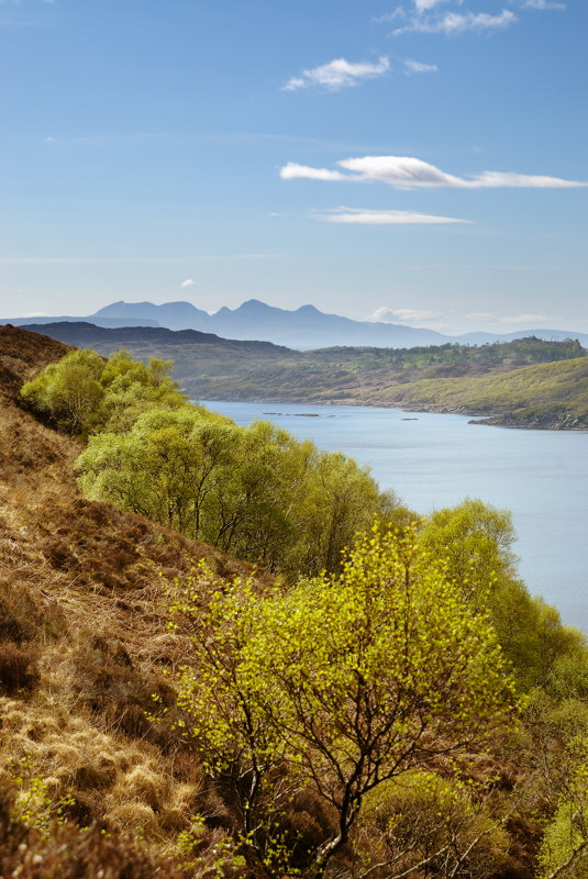 Loch nam Uamh from Ardnish peninsula walk with Rum in background