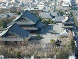 Higashi Hongan-Ji Temple, seen from Kyoto Tower