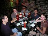 The gang enjoying Hurricanes at Pat O'Brien's