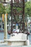 Modernist Lamp Poles with Built-In Seats