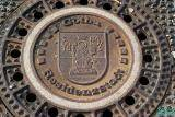 Manhole Cover with City Seal