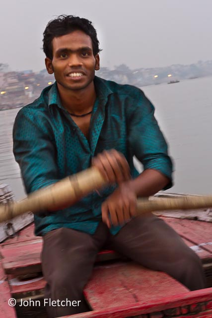Oarsman at Work on the Ganges