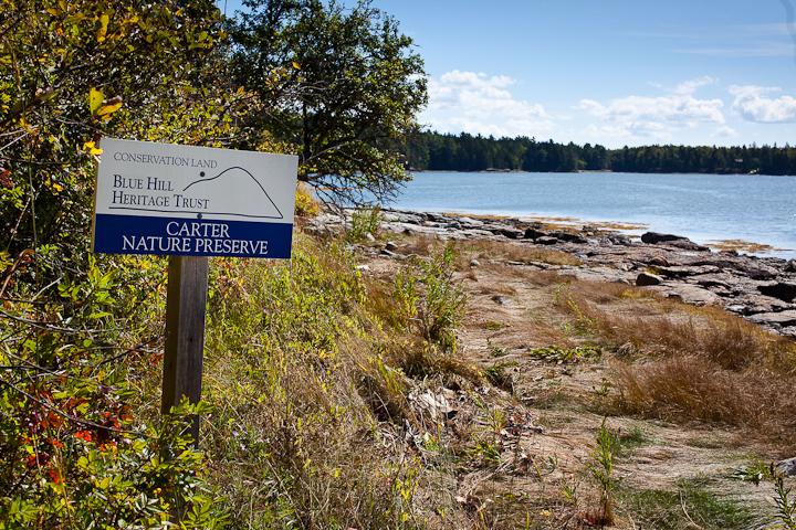 Carter Nature Preserve Sign
