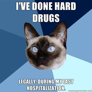 done hard drugs