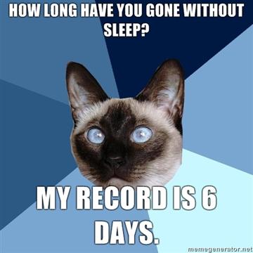 lack of sleep 6 days