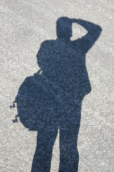 Aszfalt-árnyék önarckép - Asphalt-shadow self-portrait