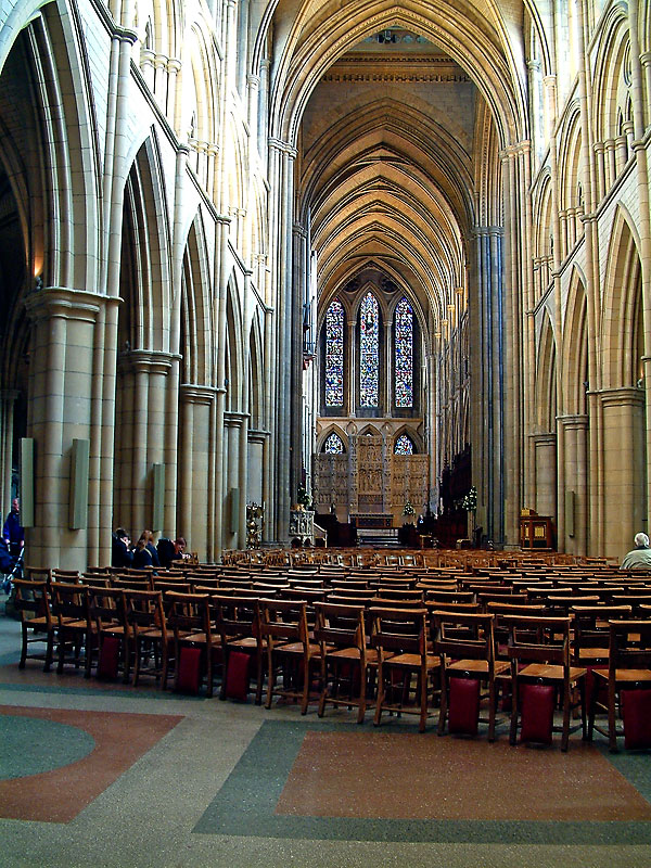 Chairs, Truro Cathedral, Cornwall