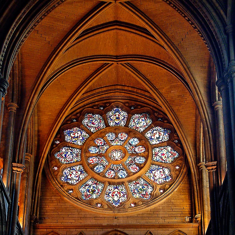 Rose window, Truro Cathedral, Cornwall