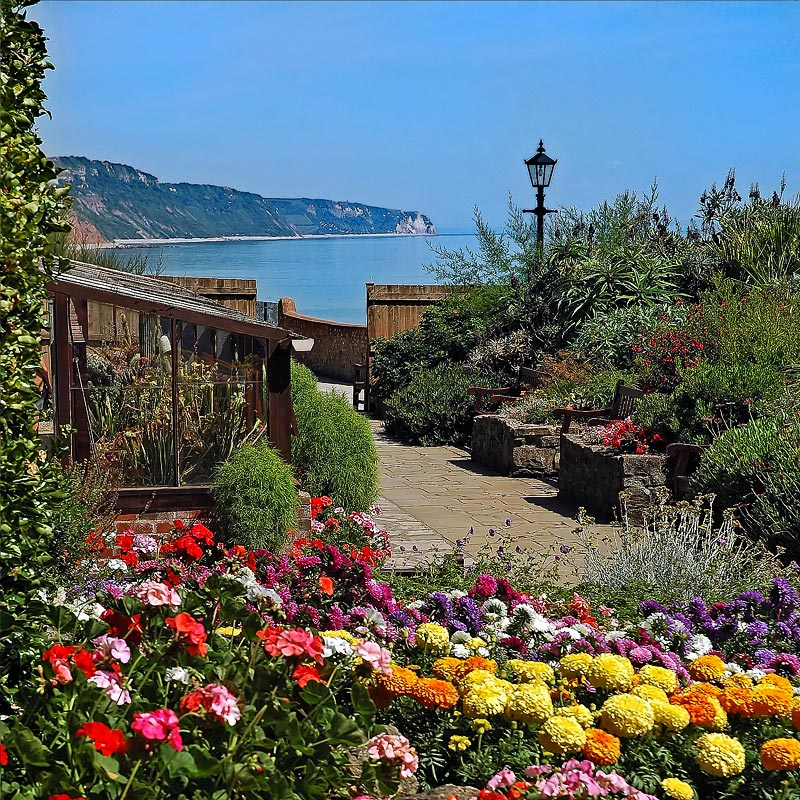Connaught Gardens and cliffs, Sidmouth (2027)