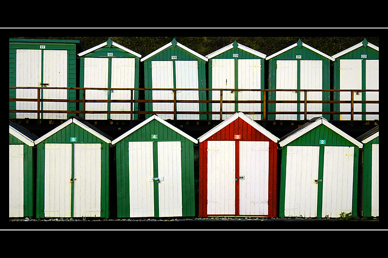 Dare to be different! Beach huts, Beer, Devon