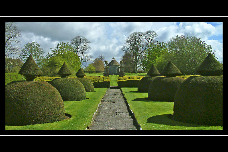 Path and dovecote, Lytes Cary Manor, Ilchester, Somerset