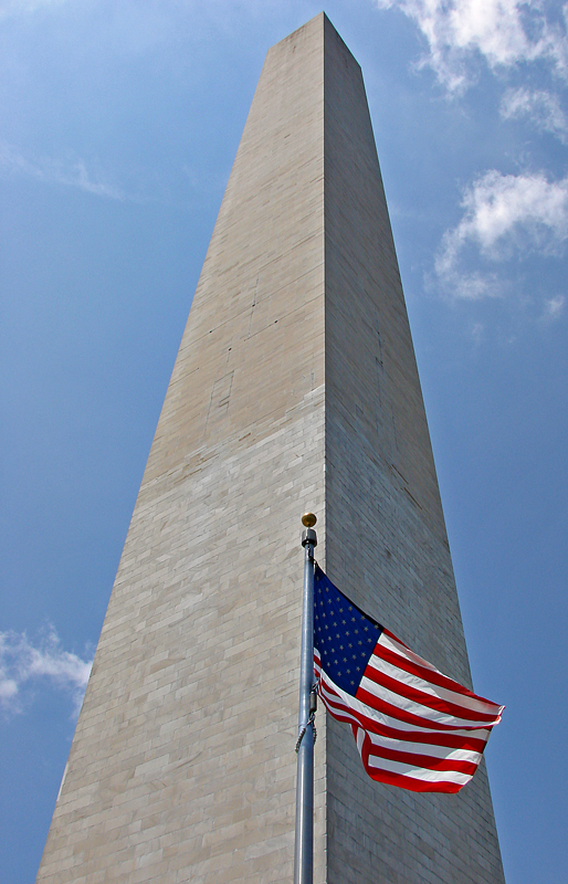 Flag and monument