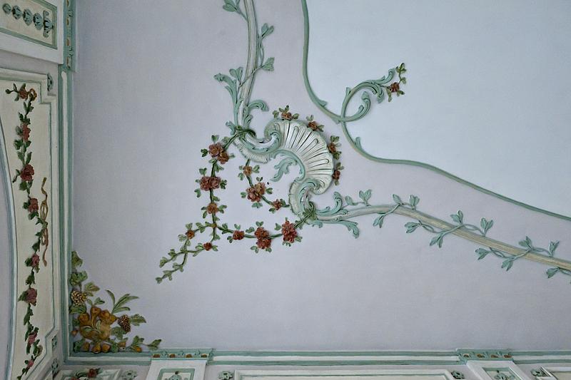 Sala Terrana, ceiling detail