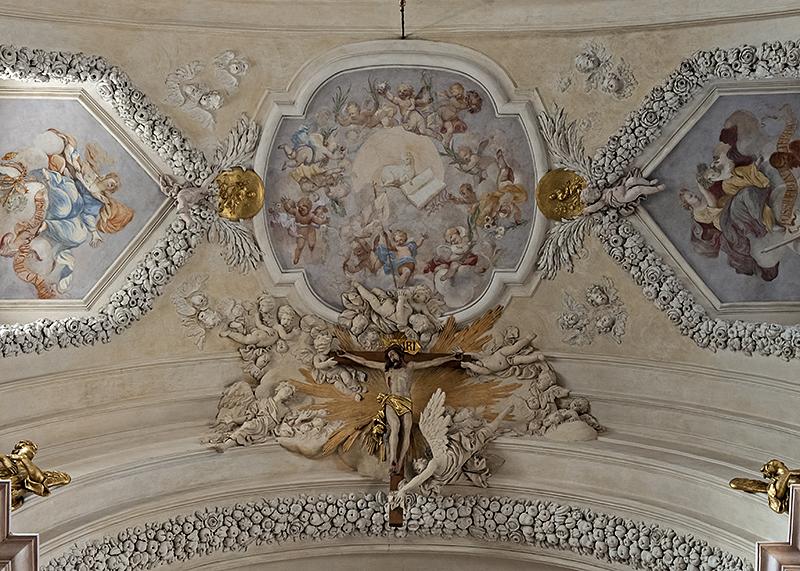 St. Annes, ceiling crucifix