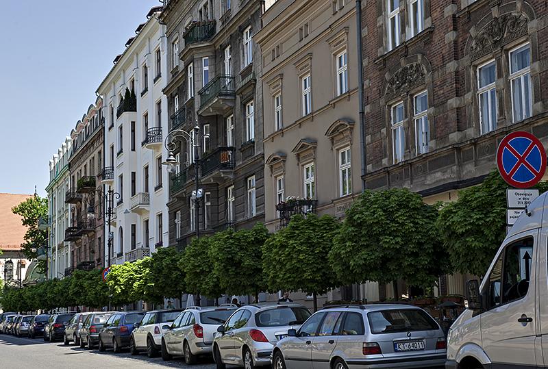 Nice old houses on Matejko Square