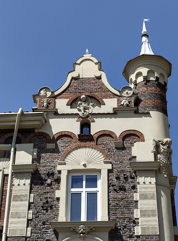 Whimsical building on Matejko Square