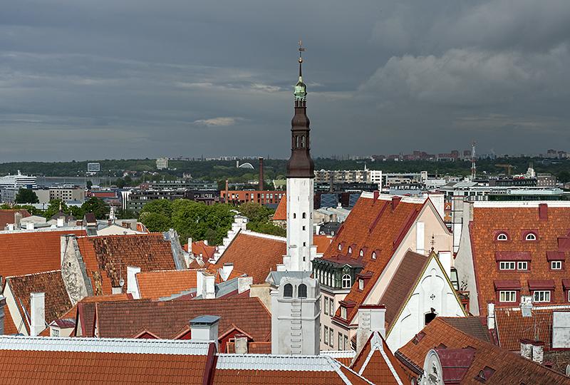 Red roofs of Tallinn
