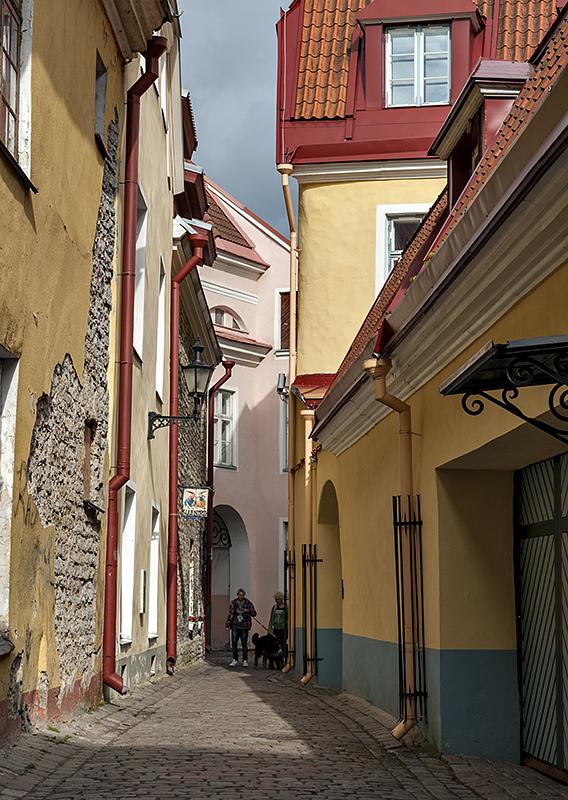 Colorful streets of Tallinn