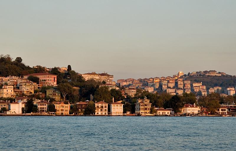 Istanbul, homes along the Bosporus