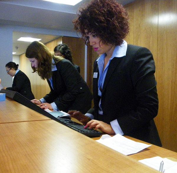 Monica, The receptionist