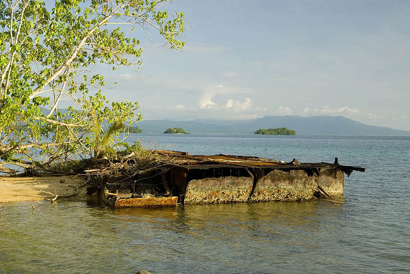 US landing craft outside Munda