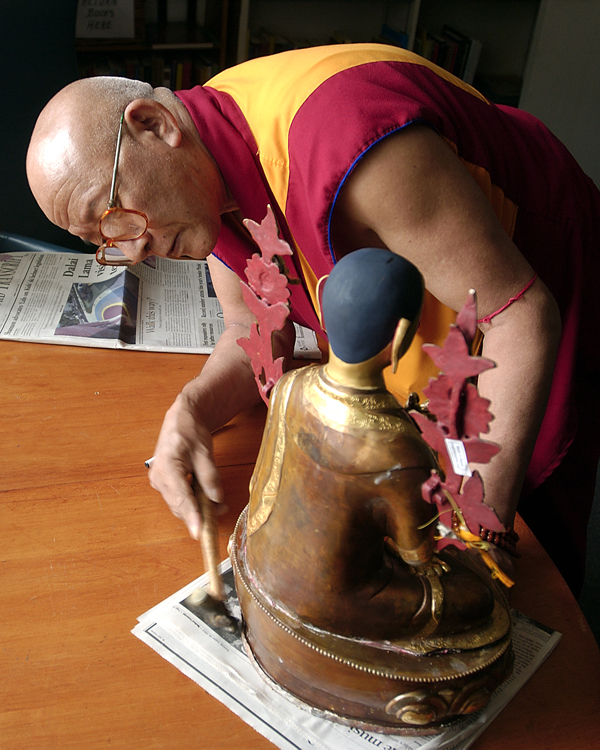 Preparing for the Dali Lama