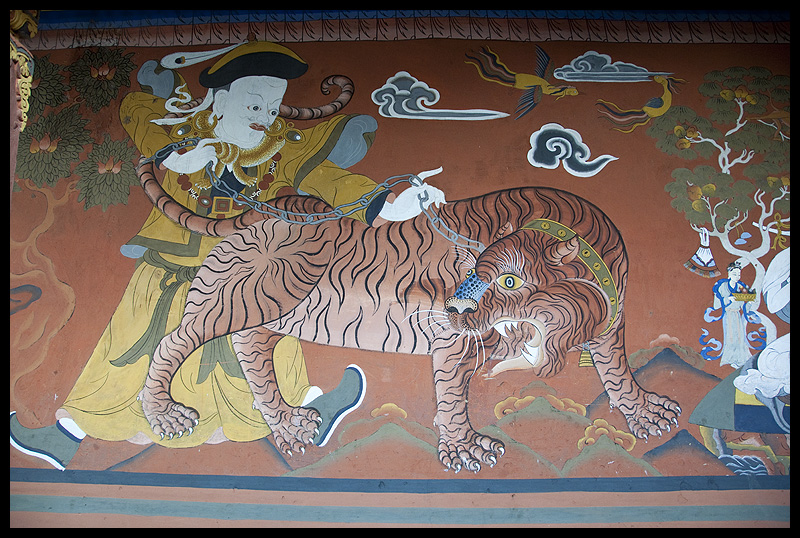 Guru Rinpoche and his concubine as a tigress