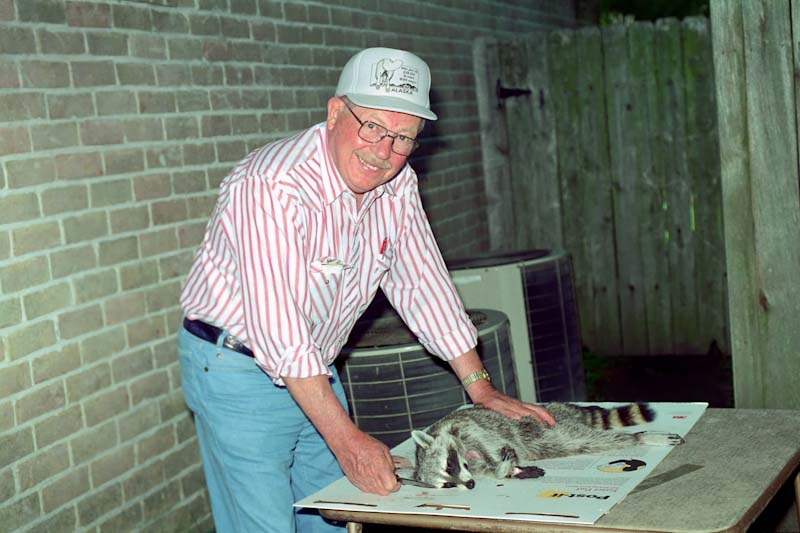 1996 - Ginnys Dad Skins a Road Kill Coon for Robert