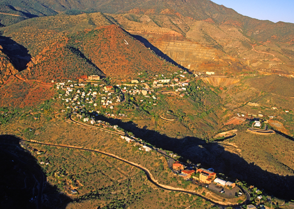 Aerial view of Jerome, AZ