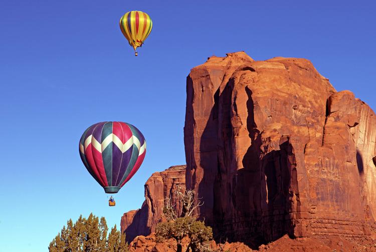 Dueling Balloons, Monument Valley, Navajo Tribal Park, AZ/UT