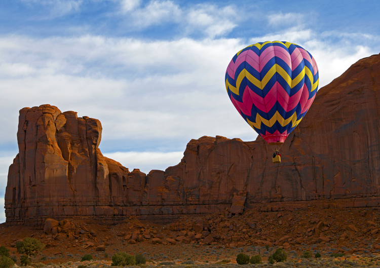 North Window Balloon, Monument Valley, Navajo Tribal Park, AZ/UT