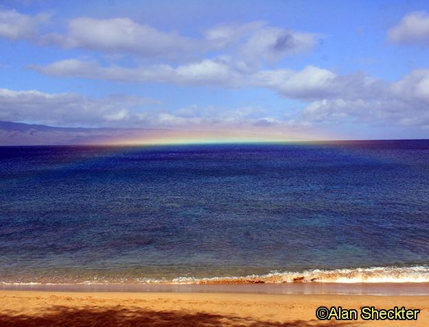 Small rainbow at Kaanapali Beach