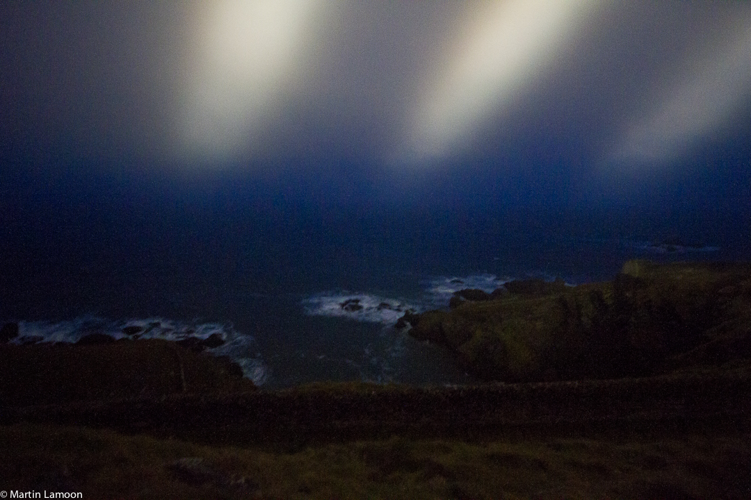 Misty lights into the sea