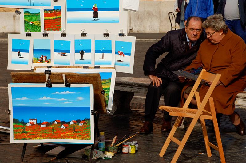 Piazza Navona art scene