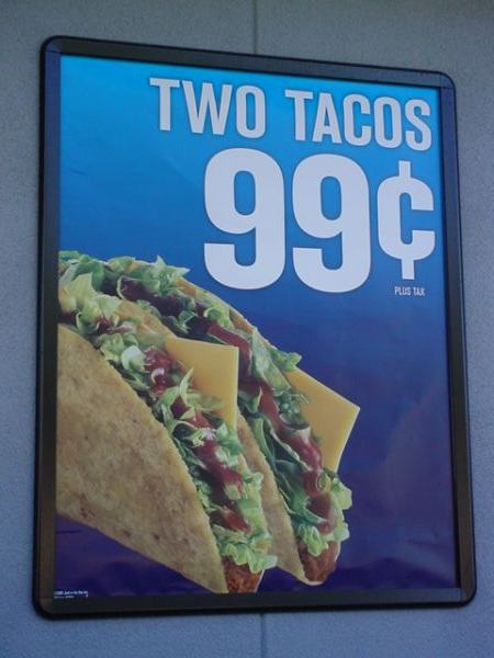 two great Tacos<br>for 99 cents