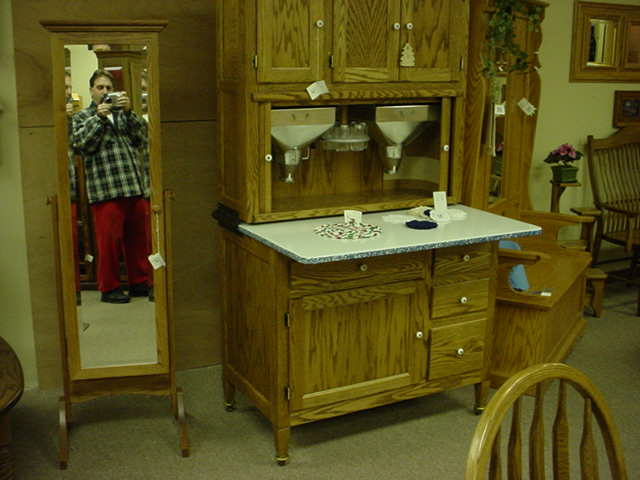 handmade Amish<br>furniture section