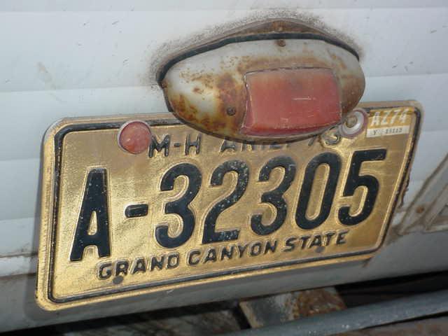 flash A - 32305 Arizona<br>last license tag 1974