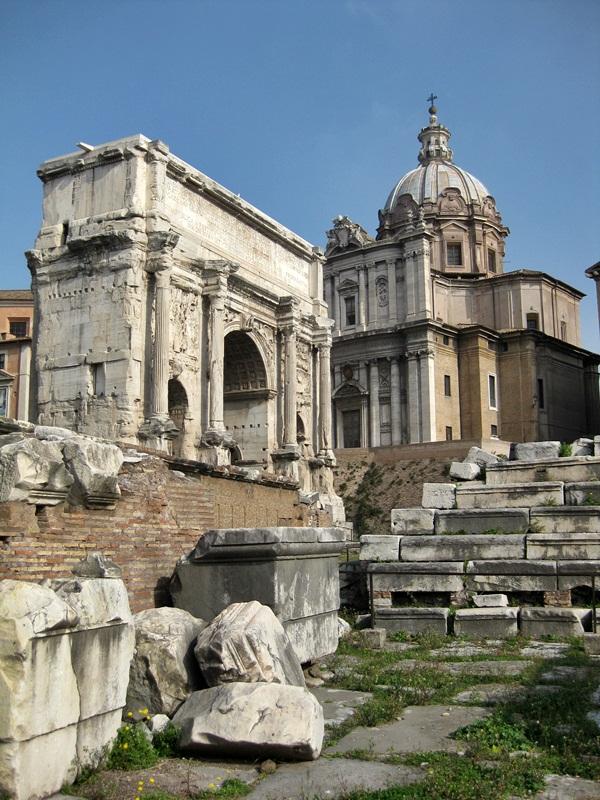 Arco di Settimio Severo en el Foro Romano