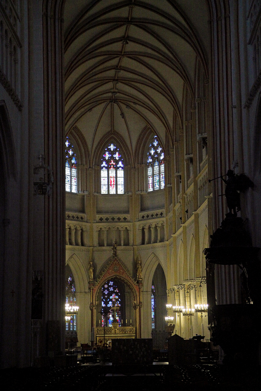 inside the Cathedral St Corentin