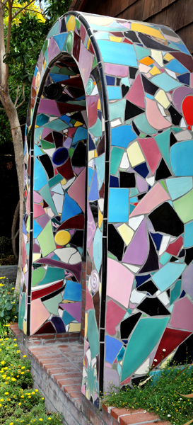 Unusual Colored Tile Entry-way