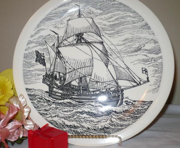 NONSUCH sailboat plate - 1956