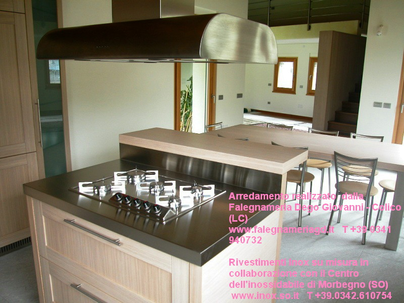 custom built kitchen wood and stainless steel acciaio inox e legno.JPG