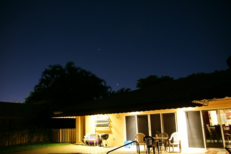 House and stars