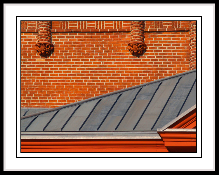 Red Brick - Silver Roof