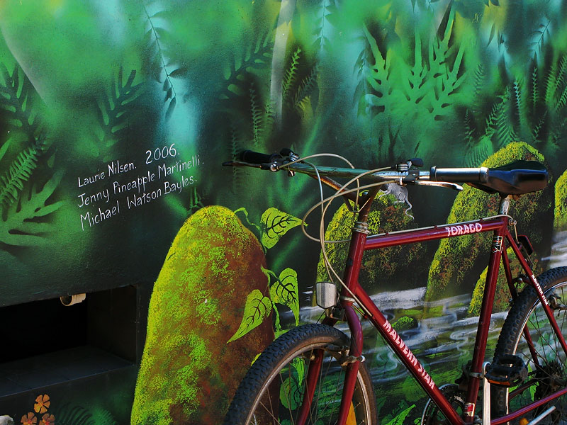 Mural and Bicycle
