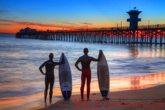 Seal Beach Surfers